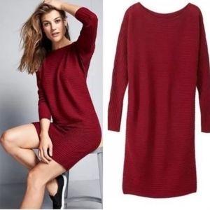 Athleta Merino Wool Rib Sweater Dress SZ M